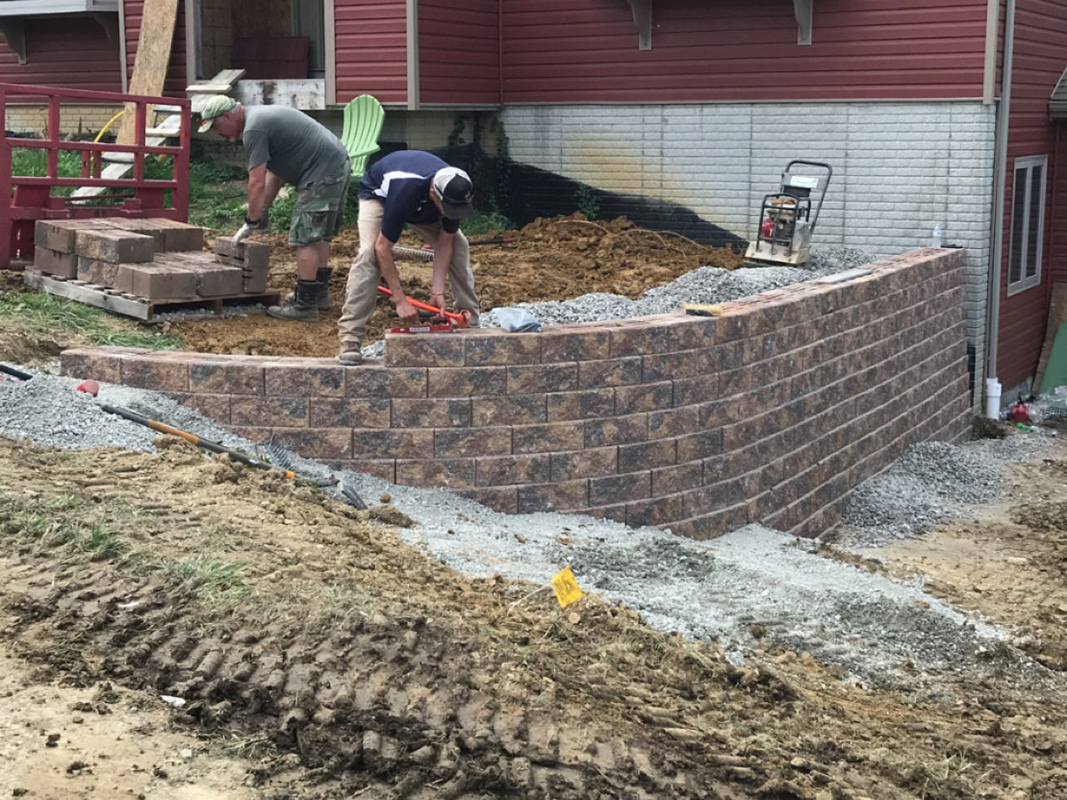 APlus Lawn Pros Retaining Wall Construction Zanesville Ohio 6