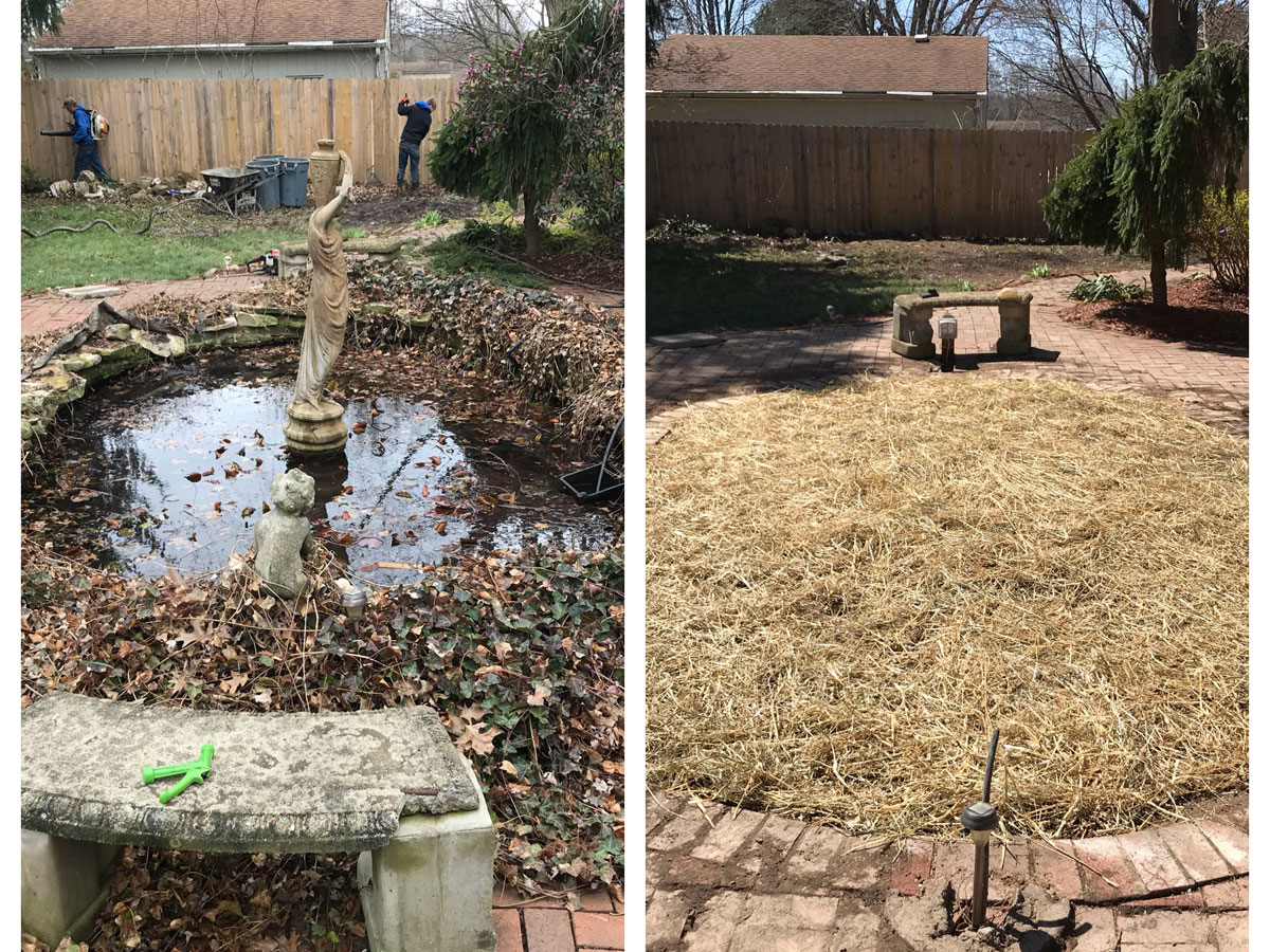 Aplus Lawncare Landscaping Yard Cleanup 2