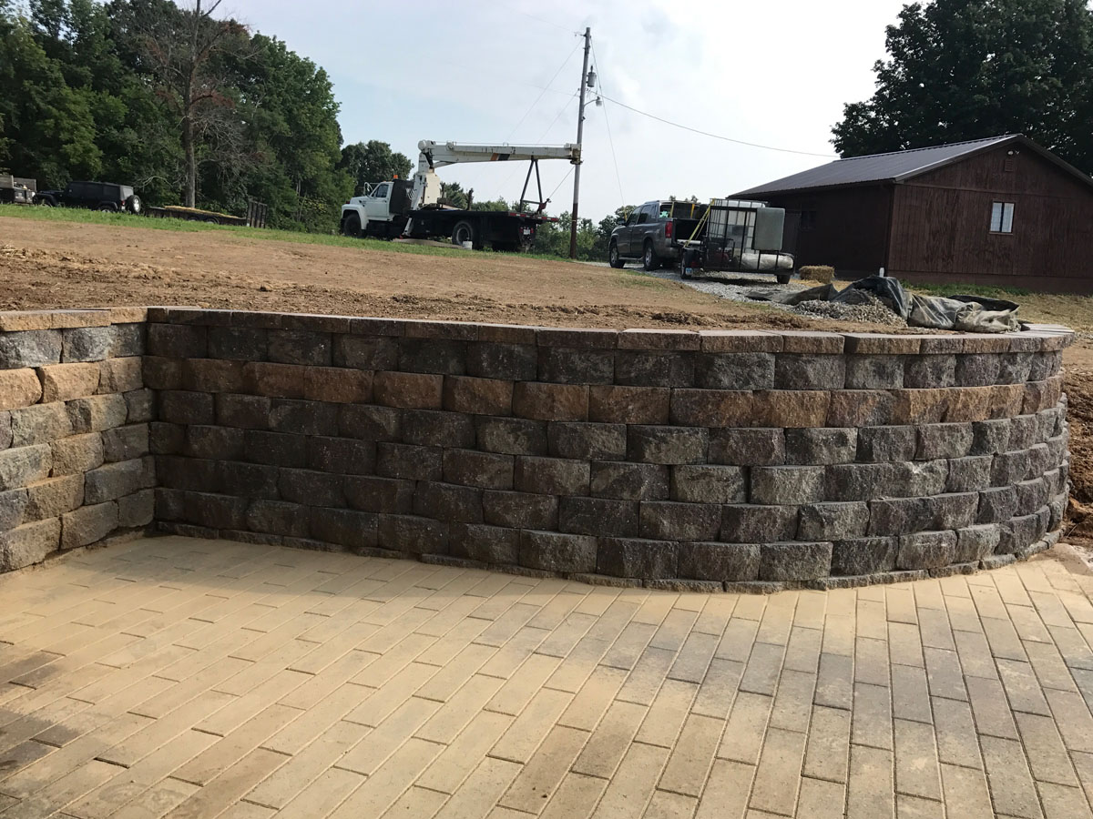 Commercial Hardscape Project Patio Sidewalk Retaining Wall 4