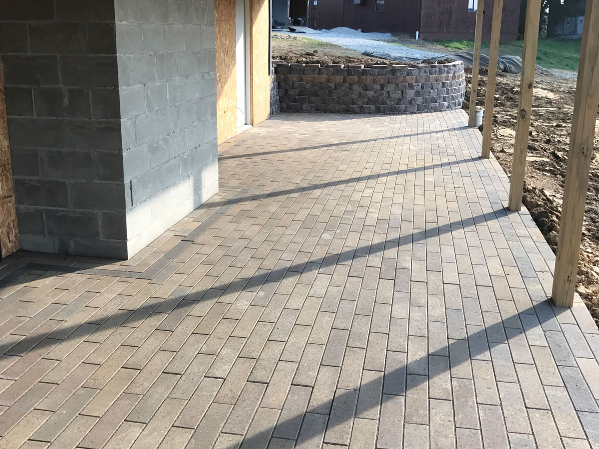 Commercial Hardscape Project Patio Sidewalk Retaining Wall 6
