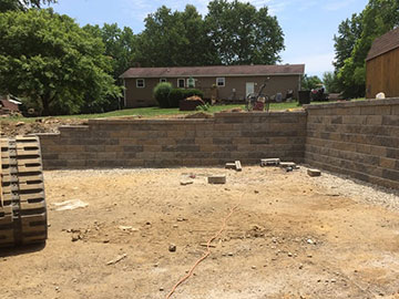 Retaining Wall Construction Services zanesville